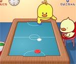 Hockey với gà con
