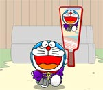 doremon chơi cầu lông