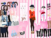 Game Pink Wallpaper Dress Up